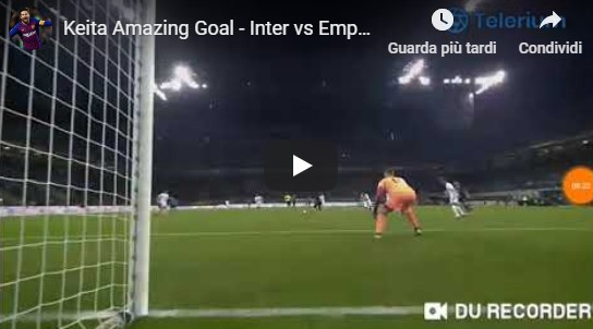 Inter - Empoli 1-0 gol Keita video